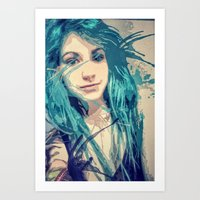Blue. And then a little blue-er Art Print