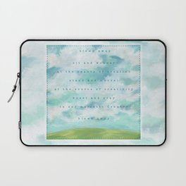 Blown Away. Sky painting by Sandy Thomson Laptop Sleeve