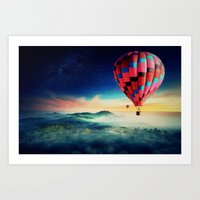 hot air balloons Art Prints featuring Hot Air Balloons by EclipseLio