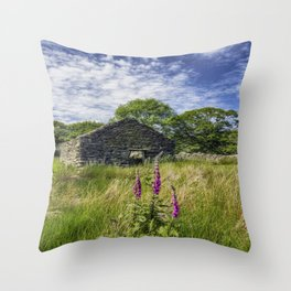 Countryside Ruin Throw Pillow