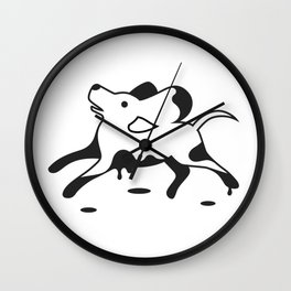 Muddy dog Wall Clock