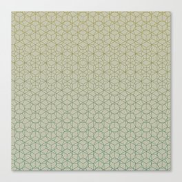 Tessellation - Culture Clash - Polytone Khaki / Sea-green Canvas Print