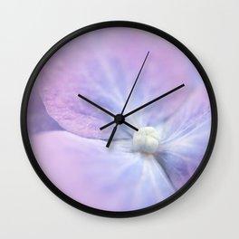 Blue and Purple Hydrangea Blossom Wall Clock
