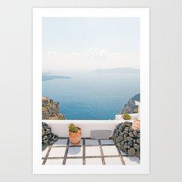 View on Santorini island Art Print