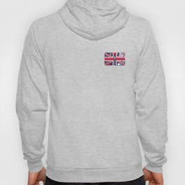 Vintage Union Jack UK Flag with London Decoration Hoody