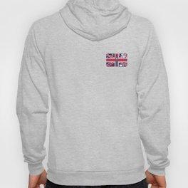 Vintage Union Jack UK Flag with London Decoration Hoody