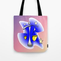 astrology Tote Bags featuring Astrology, Aquarius by Karl-Heinz Lüpke