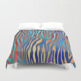 Colored Zebra Pattern Duvet Cover