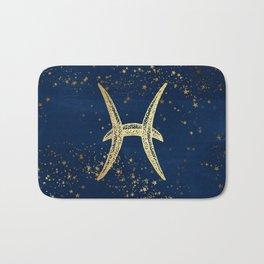 Pisces Zodiac Sign Bath Mat