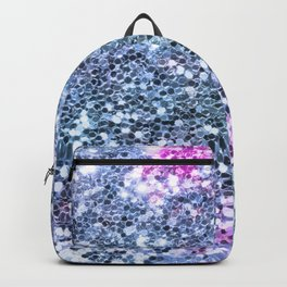 Pastel Colorful Blue Glitters Sparkling Pretty Chic Pattern Backpack