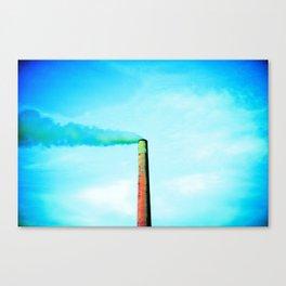 smoke stack in sudbury ontario canada Canvas Print