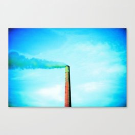 smoke stack in sudbury ontario canada Canvas Print