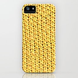 Seed Stitch Yellow iPhone Case