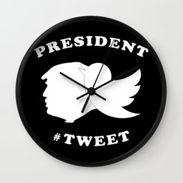President Tweet Wall Clock