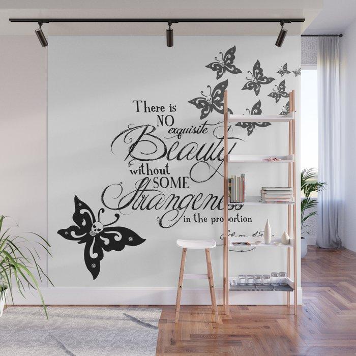 'Strange Skullerflies' -  Quotes - Edgar Allan Poe Wall Mural