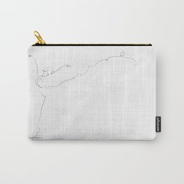 'Essence II', Dancer Line Drawing Carry-All Pouch