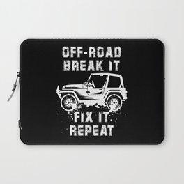 OFF-ROADING: Off Road Break Fix Motif Laptop Sleeve