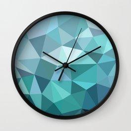 3angle blue Wall Clock