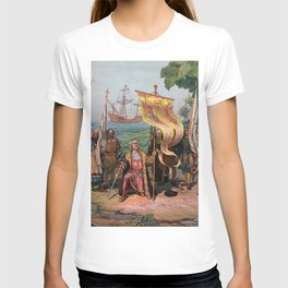 Columbus Landing in America Painting (1892) T-shirt