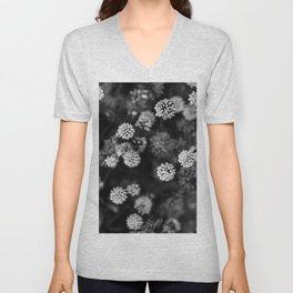 White flowers Unisex V-Neck