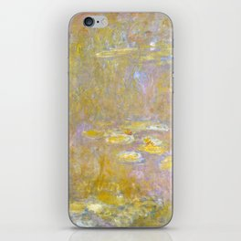 Sea-Roses (Yellow Nirwana) by Claude Monet iPhone Skin