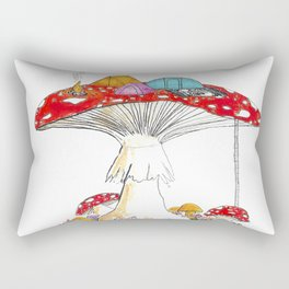 Fungi Nights - Mushroom Forest Tent Camping Rectangular Pillow