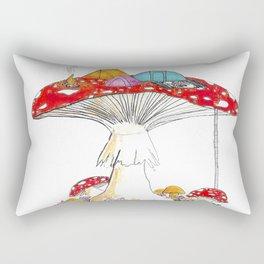 Fungi Nights - Mushroom Forest Tent Camping Rectangular Pillow