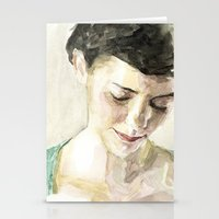 amelie Stationery Cards featuring Amelie Poulain  by Stefan Harris