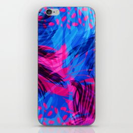 Going for an Abstract Swim iPhone Skin