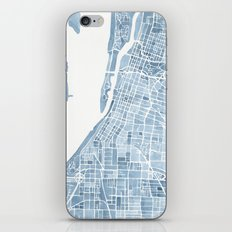 Memphis Tennessee blueprint watercolor map iPhone & iPod Skin