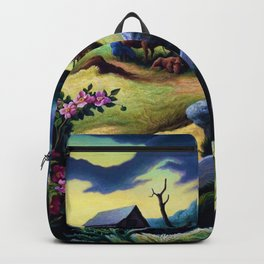 Classical Masterpiece 'June Morning, 1945' by Thomas Hart Benton Backpack