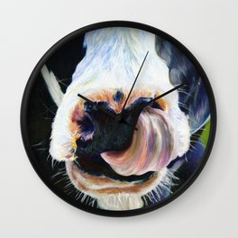 Abstract Cow Wall Clock