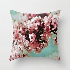 Springblossom - photography Throw Pillow