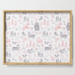 Woodland Forest Animals Serving Tray