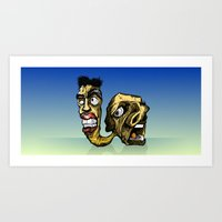 Siamese Monster Art Print