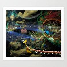The Bioluminoidal Fractalization Process Art Print