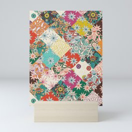 sarilmak patchwork Mini Art Print