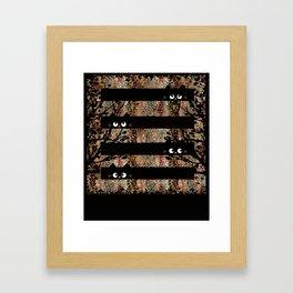 leo cat Framed Art Print