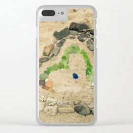 Beach lover Clear iPhone Case