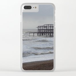 West Pier Wreckage Clear iPhone Case