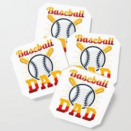 Awesome Baseball Dad for Baseball Parent Coaster