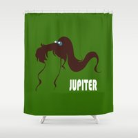 sailor jupiter Shower Curtains featuring Sailor Jupiter by Michi Donaho