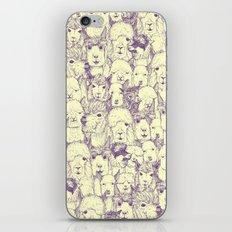 just alpacas purple cream iPhone & iPod Skin