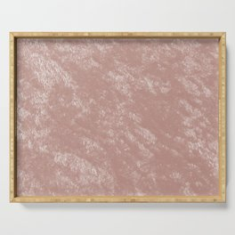 Soft rose gold velvet Serving Tray