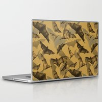 bats Laptop & iPad Skins featuring Bats by Deborah Panesar Illustration
