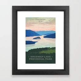 Shuswap Lake Provincial Park Framed Art Print
