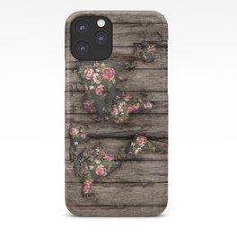 Wood Flowers Mapamundi iPhone Case