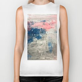 Abstract in Grey Biker Tank