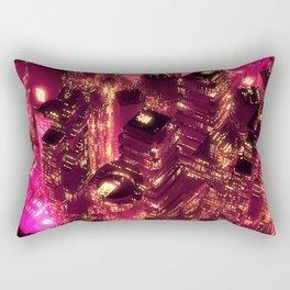 Red city Rectangular Pillow