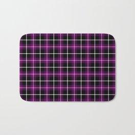 Purple and Black Tartan Bath Mat